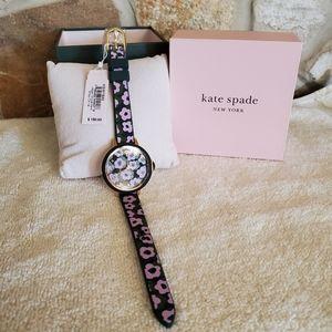Kate Spade Purple Park Row Flair Flora Poppy Watch
